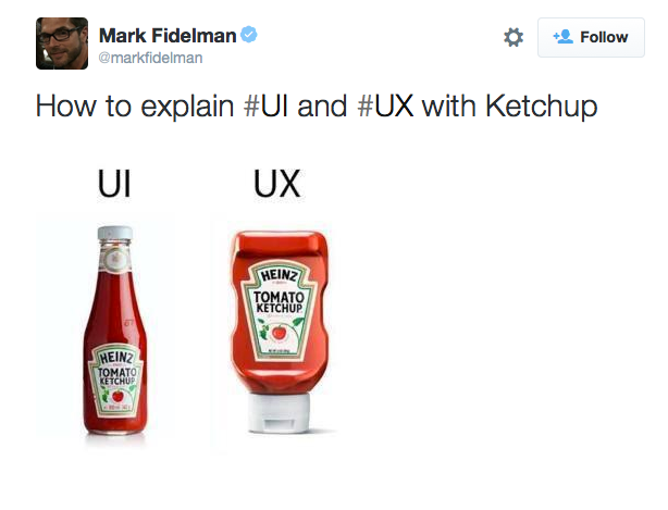 Figure 4: UI and UX https://twitter.com/markfidelman/status/651774238169272320