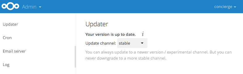 Nextcloud 9.53 - Updater
