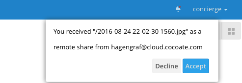 Nextcloud - Notification