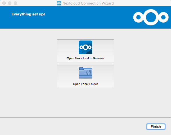 Nextcloud Connection Setup - Everything set up!