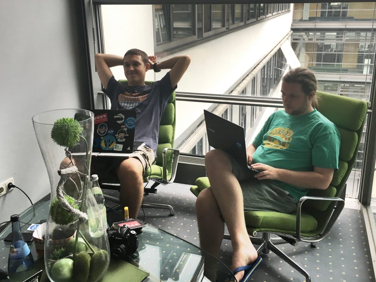 Christian and Jos - Hackweek, Nextcloud