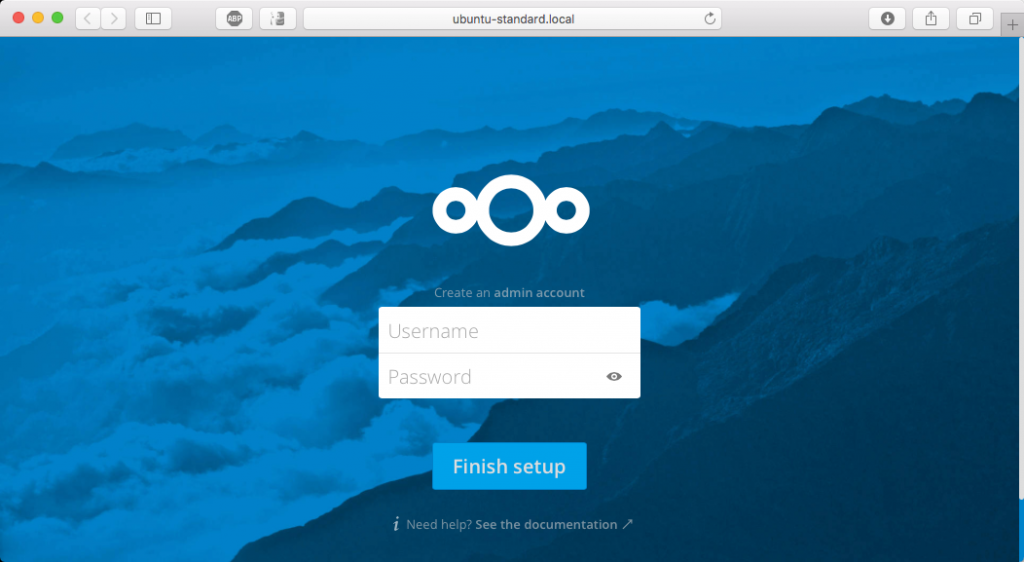 Nextcloud Box - set administrator account