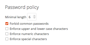 Nextcloud - Password Policy