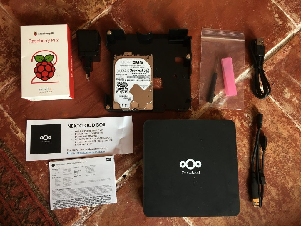 All parts of Nextcloud Box