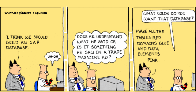 Dilbert on SAP Tables