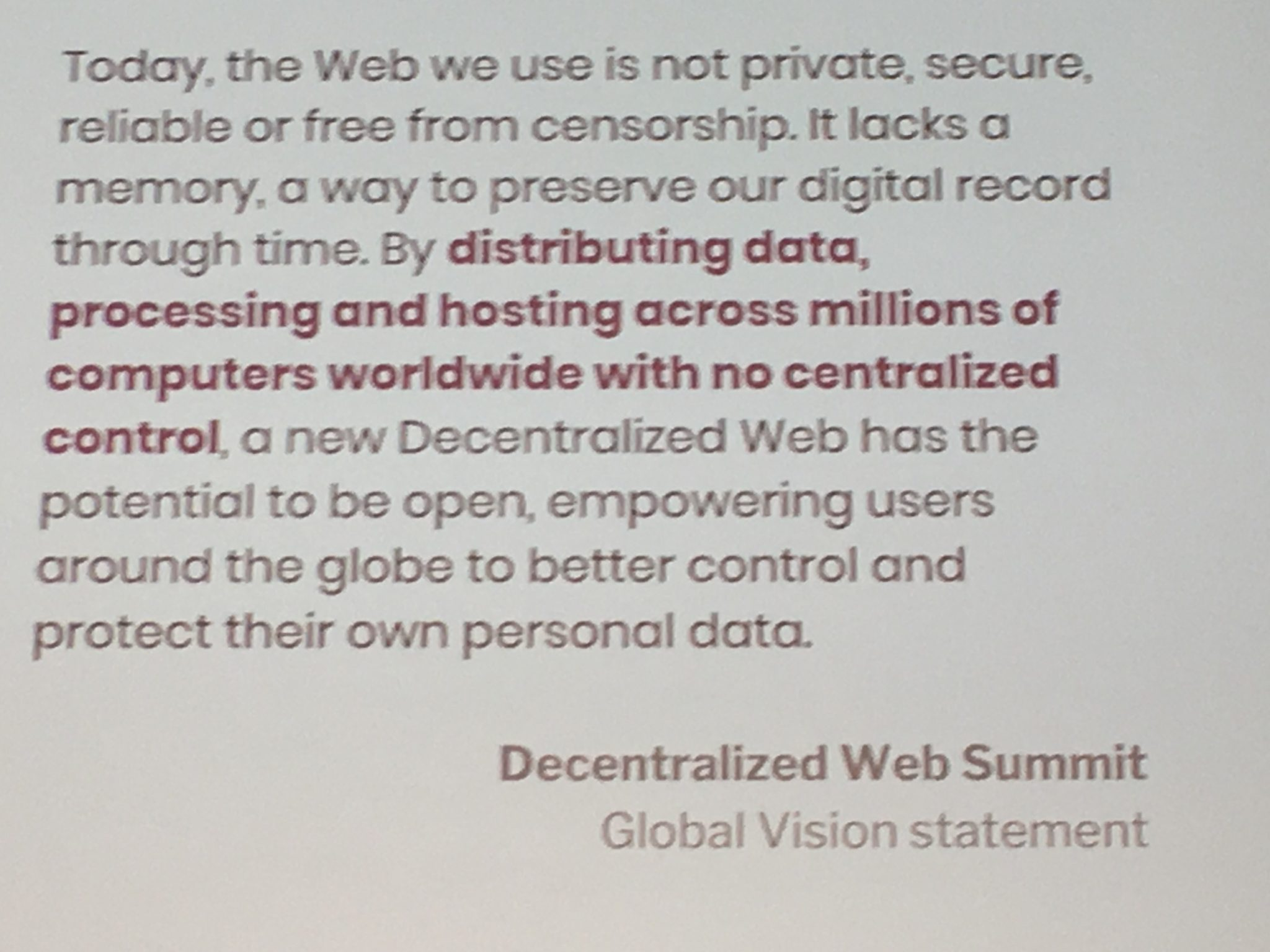 Decentralized Webe